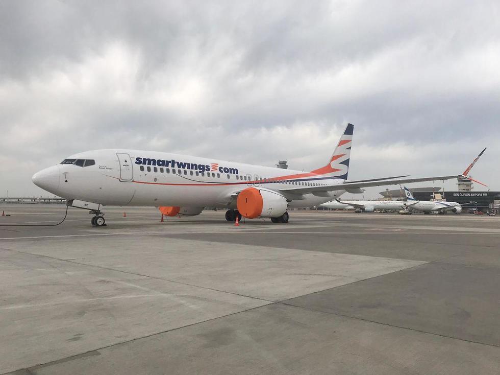 Boeing 737 MAX компании Smart Wings в аэропорту Бен-Гурион. Фото: Spotters TLV