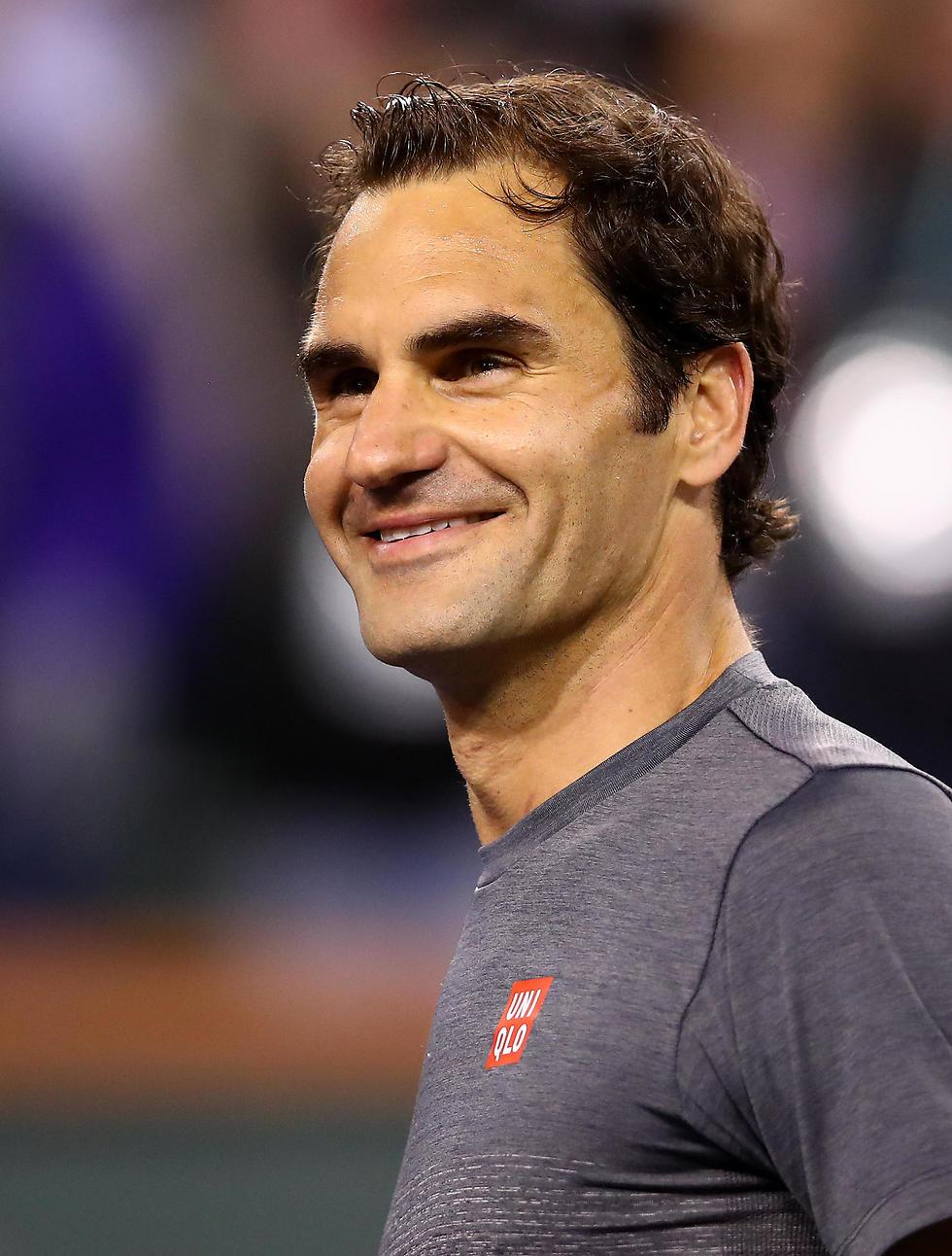 רוג'ר פדרר חוגג (צילום: Getty Images)