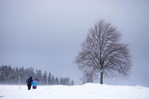 הכי חשוב: להצטייד בנעליים־מגפיים לחורף המושלג. (צילום: צביקה בורג)