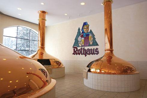 השקיעו גם בעיצוב. מבשלת הבירה Rothaus (צילום: צביקה בורג)