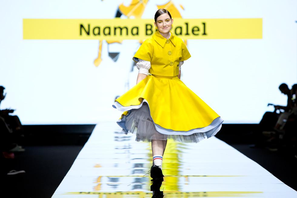 אליאנה תדהר מתוקה מתמיד בתלבושת של נעמה בצלאל (צילום: ענבל מרמרי)