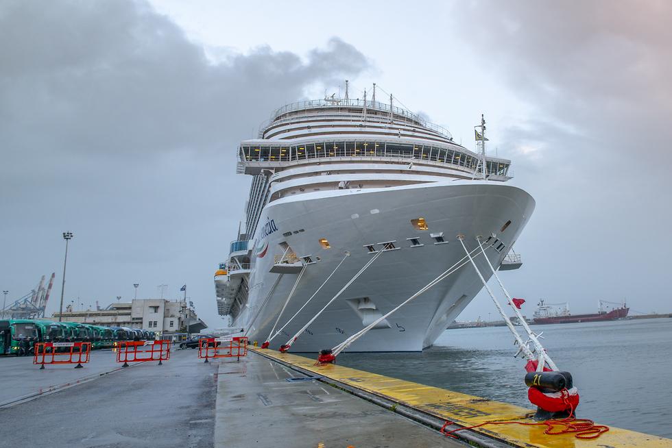 אוניית קוסטה ונציה נמל חיפה (צילום: ונציאן ורהפטיג)