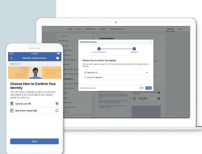 תהליך הזיהוי בקידום מודעות בפייסבוק (צילום מסך)