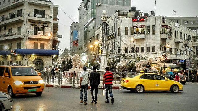 Al-Manarah Square in central Ramallah