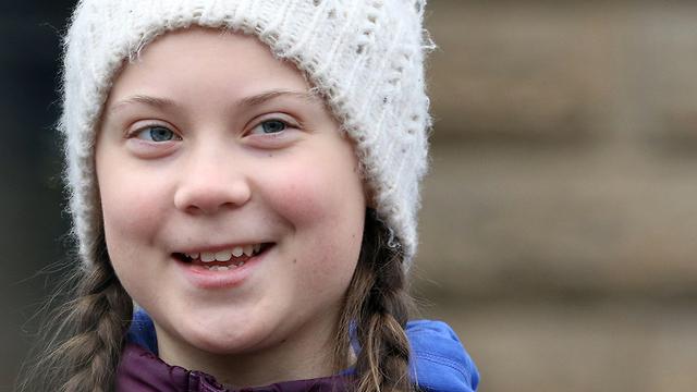 גרטה טונברג נערה מ שבדיה מועמדת ל פרס נובל ל שלום (צילום: EPA)