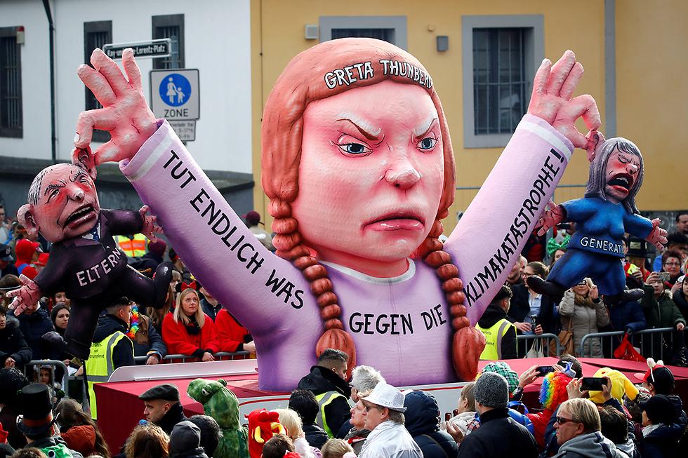 גרטה טונברג נערה מ שבדיה מועמדת ל פרס נובל ל שלום (צילום: רויטרס)