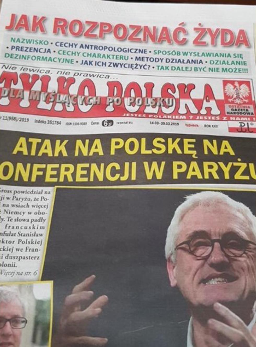 כותרת בעיתון טילקו פולסקה ()
