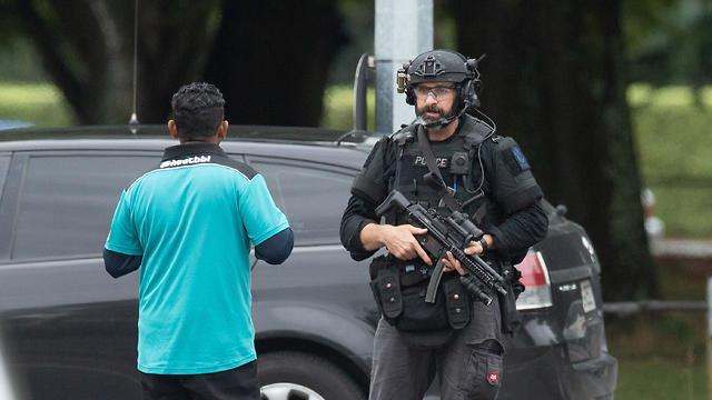 זירת הירי במסגדים בניו זילנד  (צילום: רויטרס)