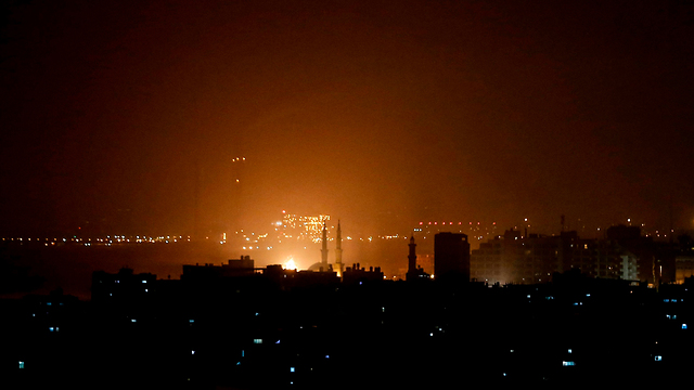 Ответный удар по Газе. Фото: AFP