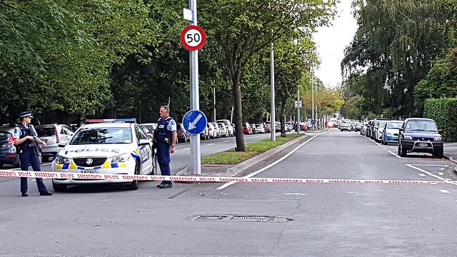 זירת הירי במסגדים בניו זילנד (צילום: AFP)