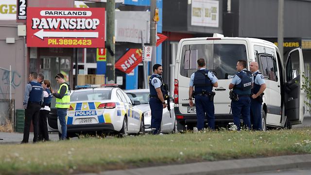 זירת הירי במסגדים בניו זילנד (צילום: AP)