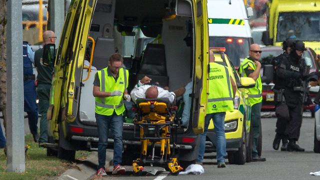 זירת הירי במסגדים בניו זילנד (צילום: EPA)