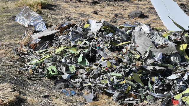 Ethiopian Airlines crash site (Photo: EPA)
