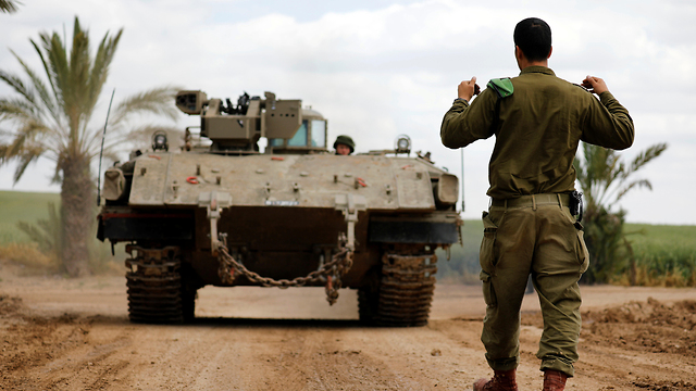 IDF troops on the Gaza border (Photo: Reuters) (Reuters)