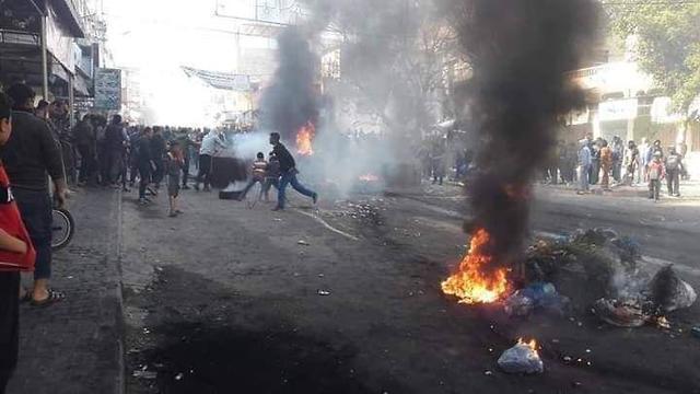 התחדשו המחאות נגד חמאס בעזה ()