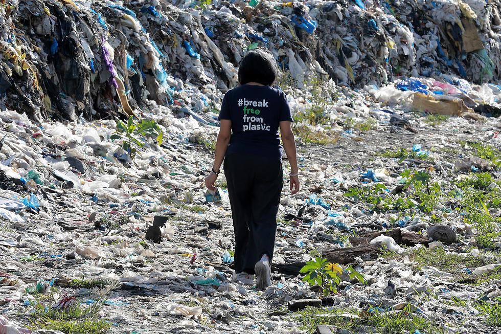 זיהום הפלסטיק בפיליפינים (צילום: גרינפיס)