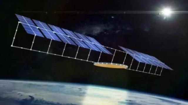הדמיה של תחנת הכוח הסולארית בחלל (הדמיה: משרד המדע הסיני)