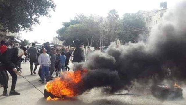 Protests in Gaza against Hamas