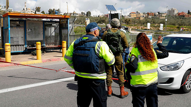 The scene of the attack at Ariel Junction (Photo: AFP)