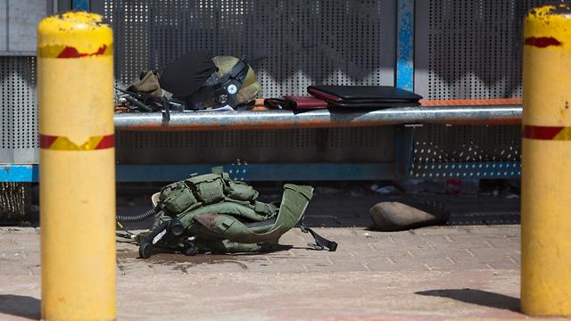 The scene of the attack that killed Staff Sgt. Gal Keidan (Photo: AP) (Photo: AP)