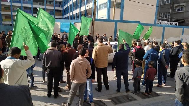 Демонстрация сторонников ХАМАСа в Газе