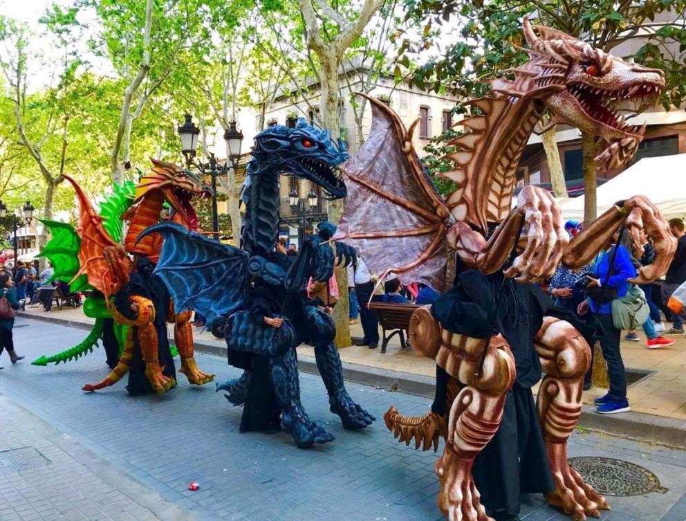Драконы из Барселоны. Фото: пресс-служба