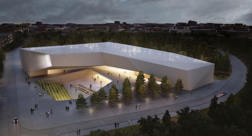 מתכנון מוזיאון הסובלנות בירושלים (בהדמיה למעלה) פרשו בעקבות חילוקי דעות (הדמיה: חיוטין אדריכלים)