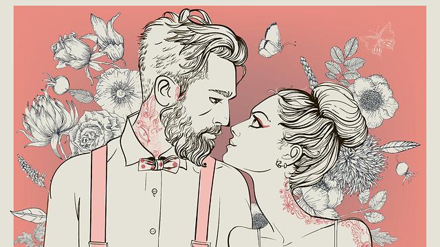 איור של זוג  (צילום: Shutterstock)