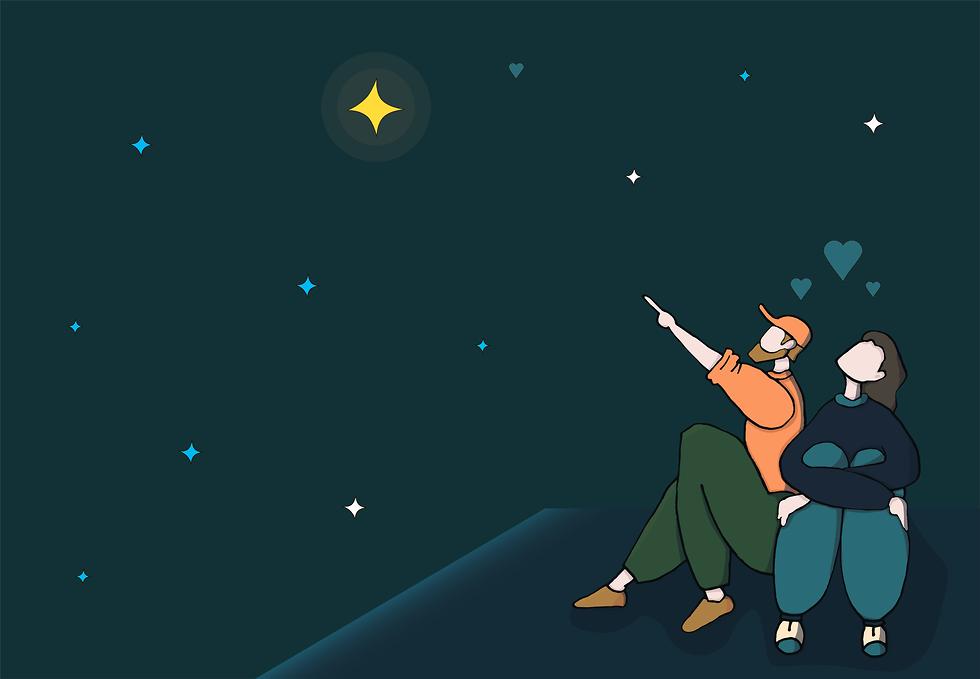 איור של זוג חולם חלום (צילום: Shutterstock)