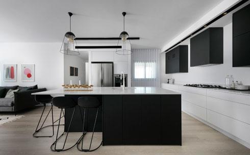 פורמיקה נאנו בשחור לבן - מטבחי רגבה  (עיצוב: אפרת רז, צילום: אלעד גונן)