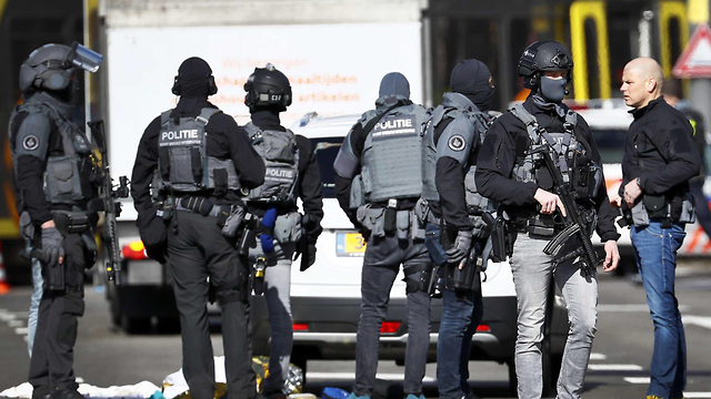 Dutch security forces at the scene of the attack (Photo: EPA)