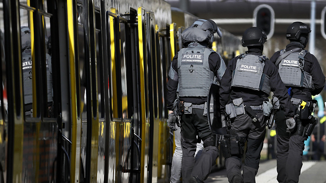 Dutch security forces at the scene of the attack (Photo: AFP)