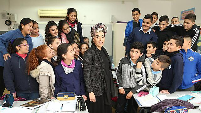 Levy with her students (Photo: Elad G)