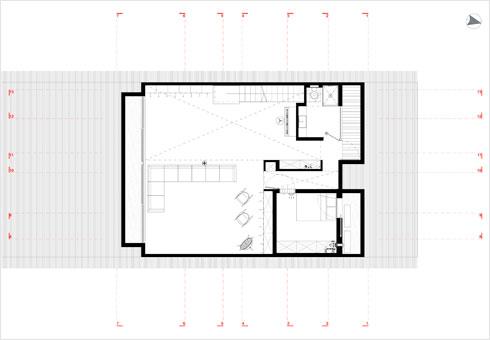 תוכנית קומת המרתף (תוכנית: ארכ׳ עדי וינברג - סטודיו ארביג׳אז)