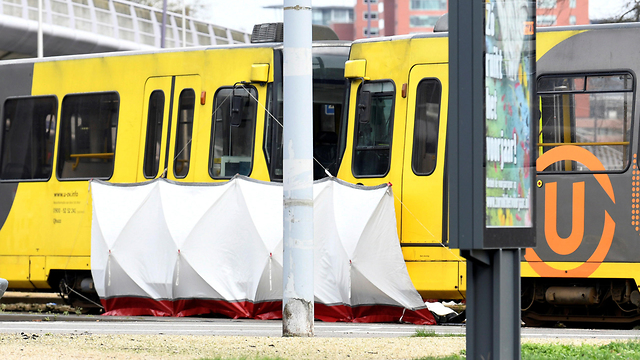 The scene of the tram shooting (Photo: Reuters)