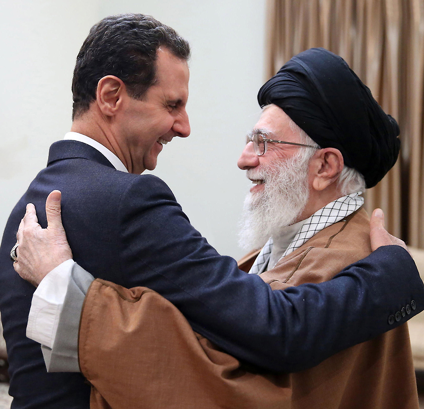 Syrian President Bashar Assad meeting with Irnaian Supreme Leader Ali Khamenei  (Photo: EPA)