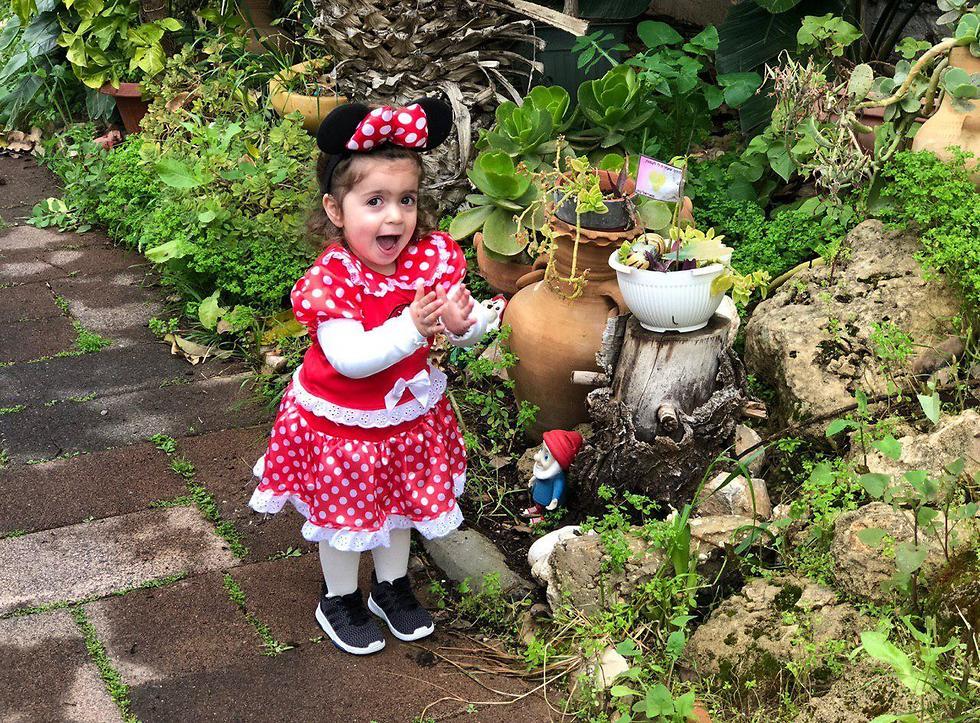 רומי אדוט בת שנתיים מיני מאוס ראשון לציון (צילום: דור אדוט)