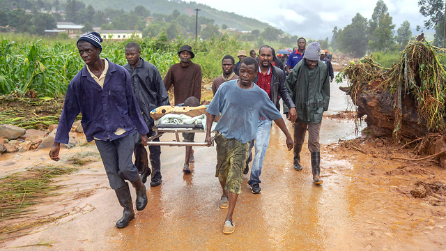 סופה  סופת ציקלון אפריקה זימבבווה צ'ימנימאני (צילום: AFP)