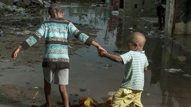 סופה סופת ציקלון אפריקה מוזמביק ביירה (צילום: AP)