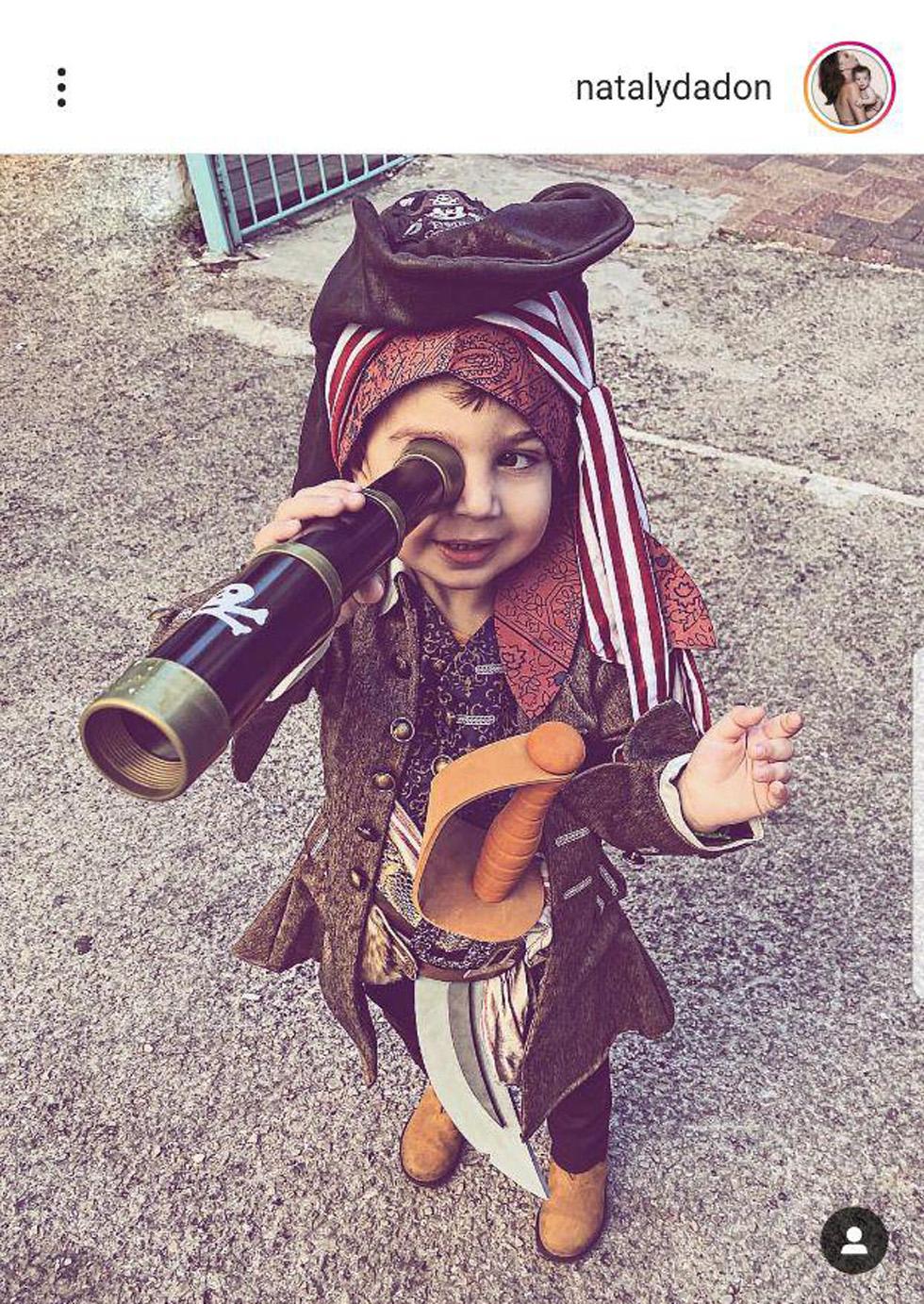 Риф Дадон в образе пирата. Фото: инстаграм