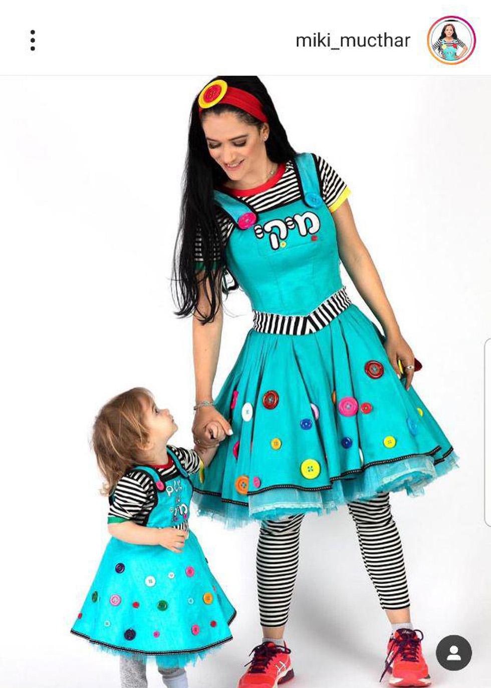 Мики Мухтар с дочкой. Фото: инстаграм