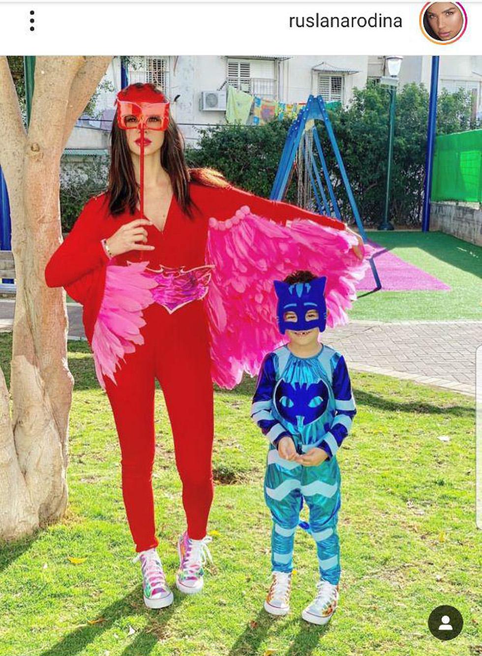 Манекенщица Руслана Родина с сыном. Фото: инстаграм
