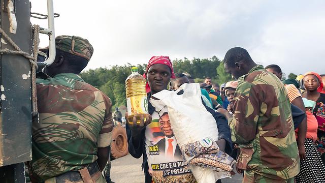סופת ציקלון אפריקה מוזמביק זימבבווה זימבבואה מלאווי (צילום: AFP)
