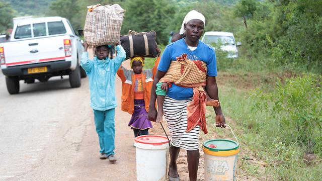 סופת ציקלון אפריקה מוזמביק זימבבווה זימבבואה מלאווי (צילום: EPA)