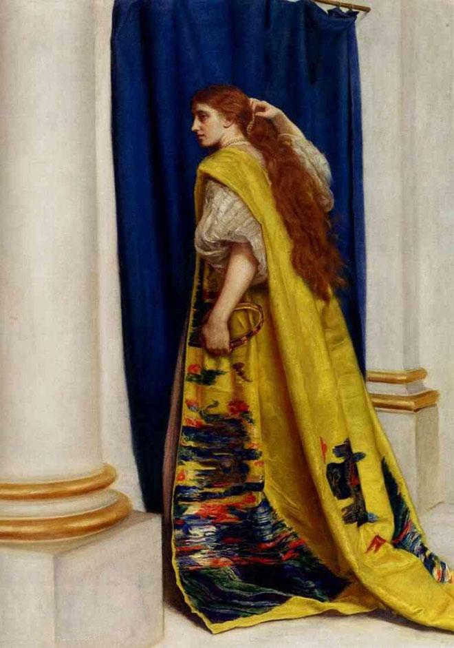 אסתר המלכה, גרסת הצייר הבריטי ג'ון אוורט מיליי. מי שלח את מכתב ההתאבדות? (מתוך ויקיפדיה/John Everett Millais)