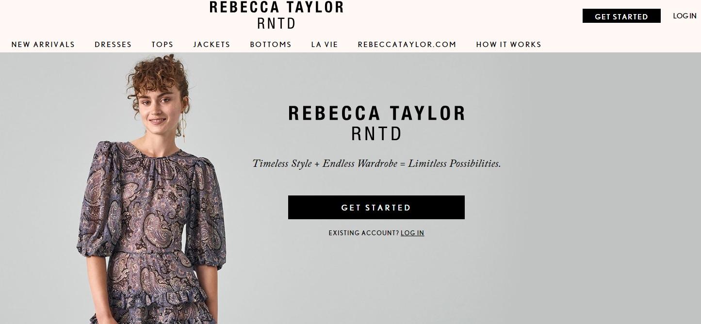 Сайт Rebecca Taylor. Фото: снимок с экрана