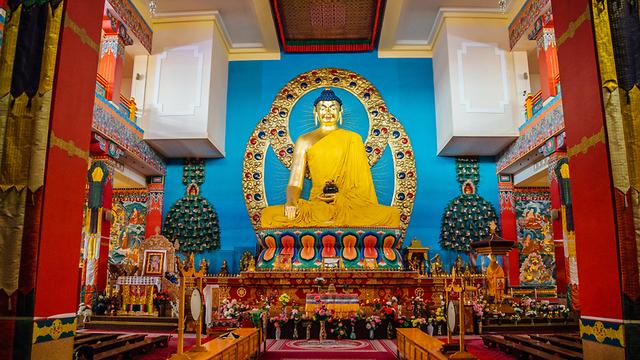 מקדש בודהיסטי ב עיר אליסטה ב רפובליקת קלמיקיה רוסיה (צילום: Shutterstock)