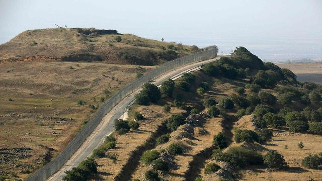 The Israel-Syria border on the Golan Heights (Photo: AFP)