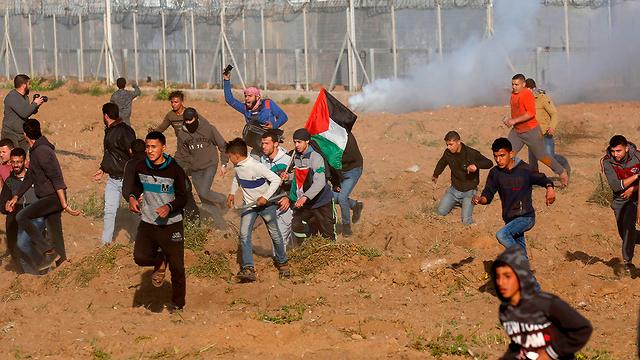 Беспорядки на границе Газы. Фото: AFP