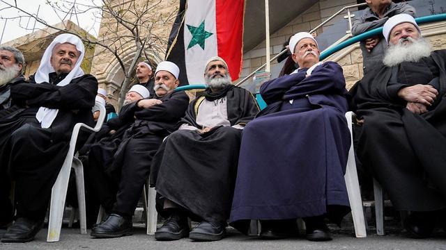 Druze elders (Photo: Effi Sharir)